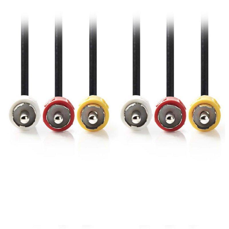 Καλώδιο A/V: 3x RCA αρσ. - 3x RCA αρσ., 1,5m.
