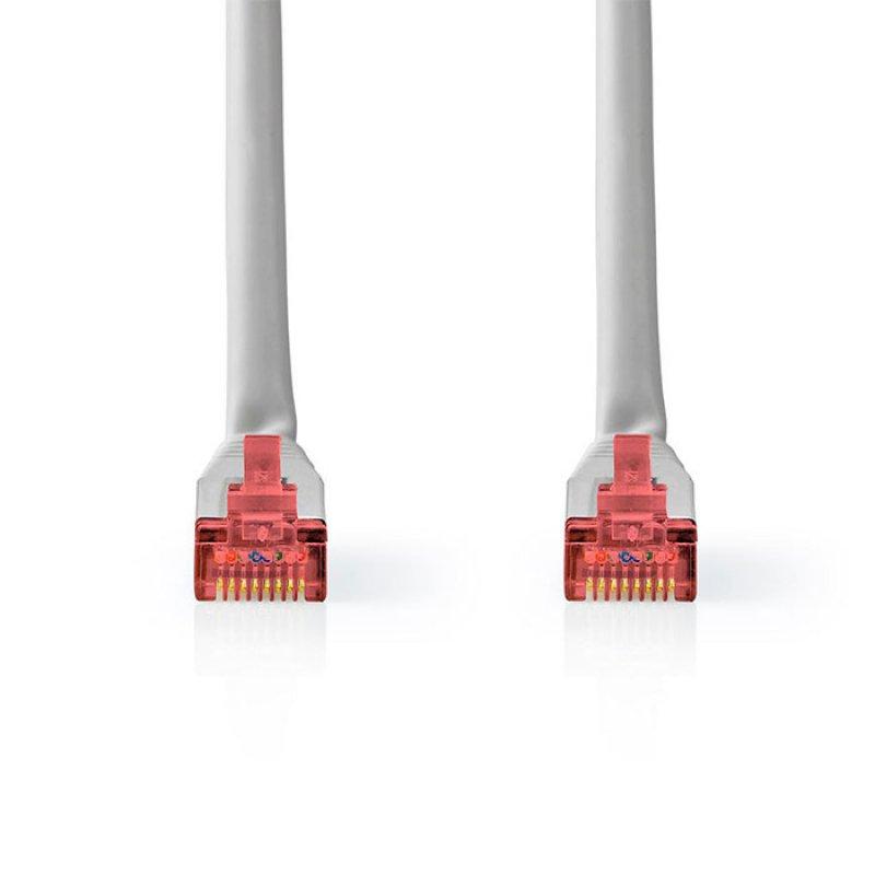 Καλώδιο Δικτύου CAT 6, S/FTP Patchcable, 0.50 m, Σε Γκρι Χρώμα.