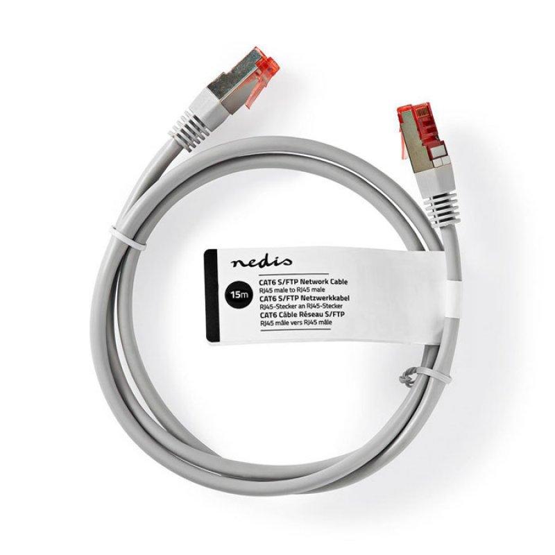 NEDIS CCGT85221GY150 Καλώδιο Δικτύου CAT6 S/FTP RJ45 Male RJ45 Male 15.0 m Grey