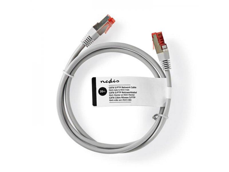 NEDIS CCGT85221GY200 Καλώδιο Δικτύου CAT6 S/FTP RJ45 Male RJ45 Male 20.0 m Grey