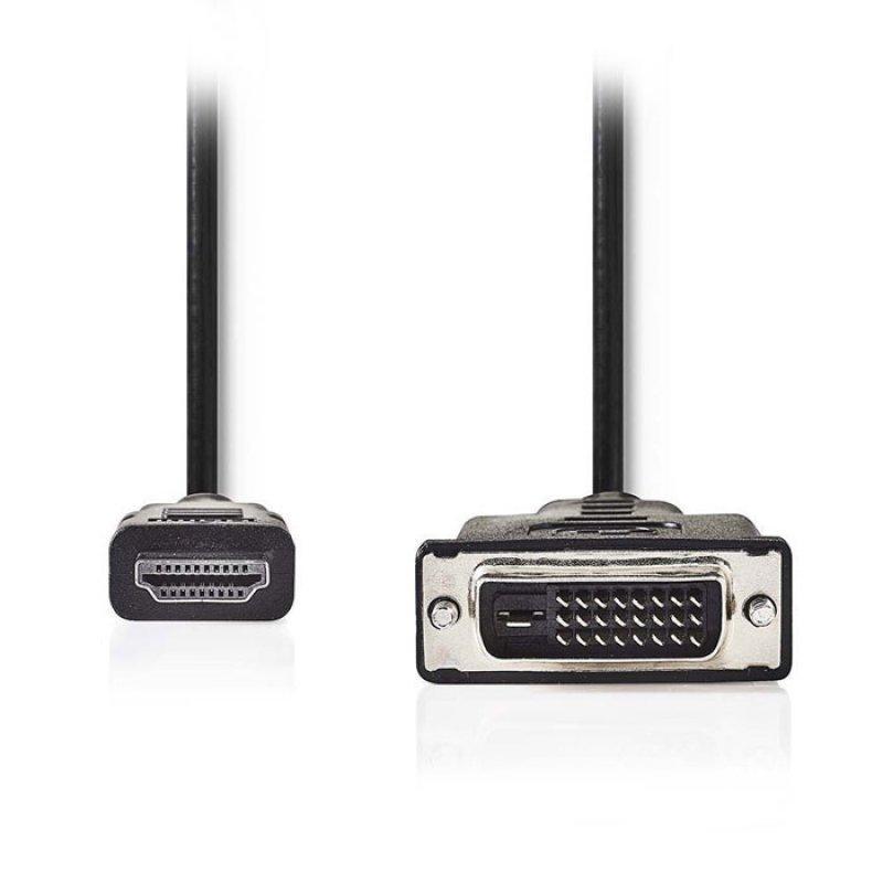 Καλώδιο HDMI αρσ. - DVI-D 24+1-Pin αρσ., 2m.
