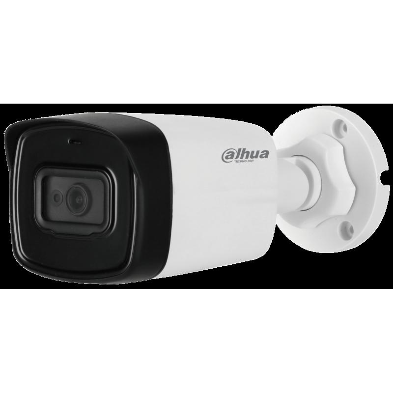 Dahua Ενσύρματη Κάμερα Bullet 5MP με ενσωματωμένο μικρόφωνο,  φακό 2.8mm και IR80m.