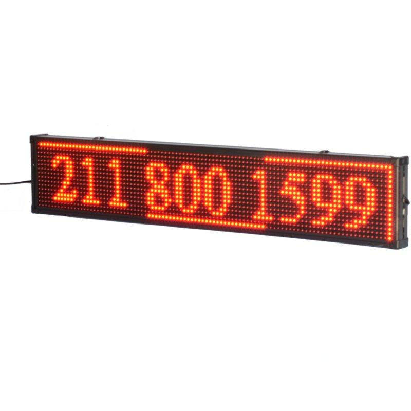 Κόκκινη Ηλεκτρονική Αδιάβροχη Πινακίδα Led 100x20