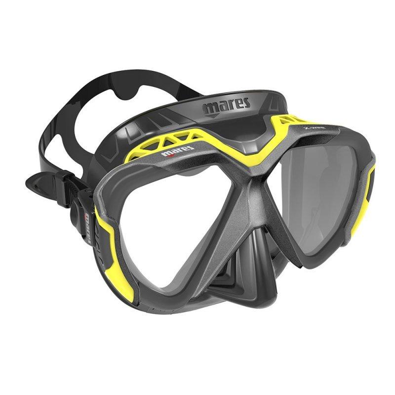 Μάσκα Θαλάσσης Mares X-Wire Μαύρο Κίτρινο