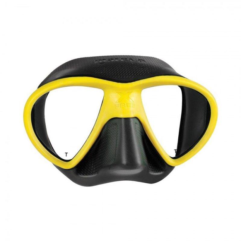 Μάσκα Θαλάσσης Mares X-Free Μαύρο Κίτρινο