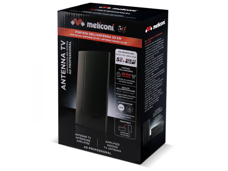 Meliconi Ad Professional R1 Εσωτερική Κεραία Τηλεόρασης Με Ενισχυτή