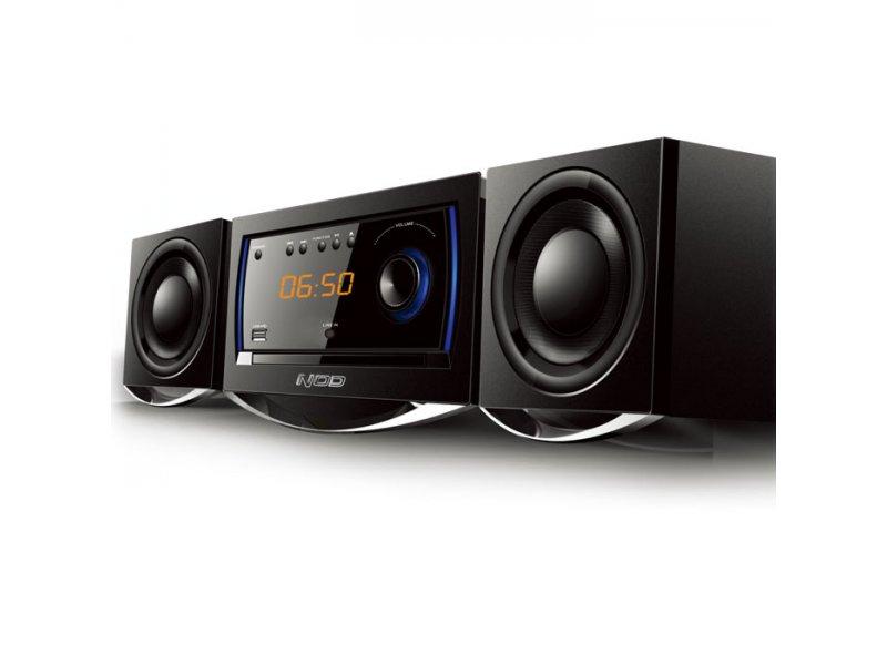 Mini Hi-Fi με CD player, FM ράδιο, σύνδεση Bluetooth και αναπαραγωγή από USB stick.