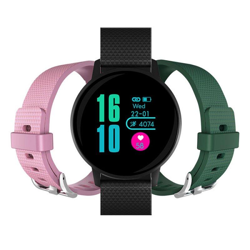 Mls Watch G3 Active Black + 2 Λουράκια(Πράσινο+Ρόζ)