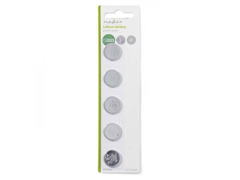 Μπαταρία λιθίου (κουμπί) CR2032 3V σε blister 5 μπαταριών.