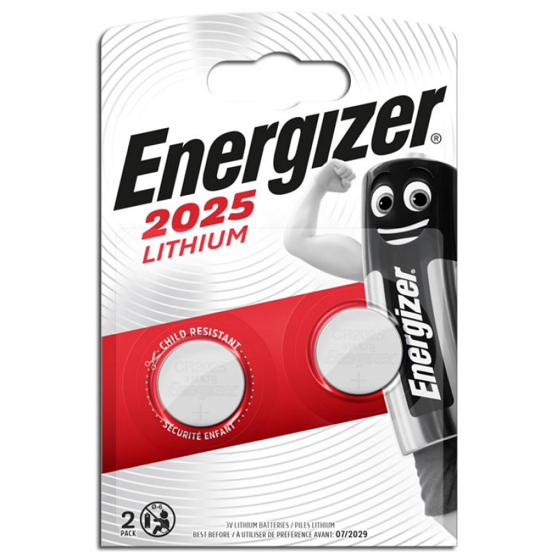 Μπαταρία Λιθίου (κουμπί) Energizer CR2025 σε blister 1 Μπαταρίας.