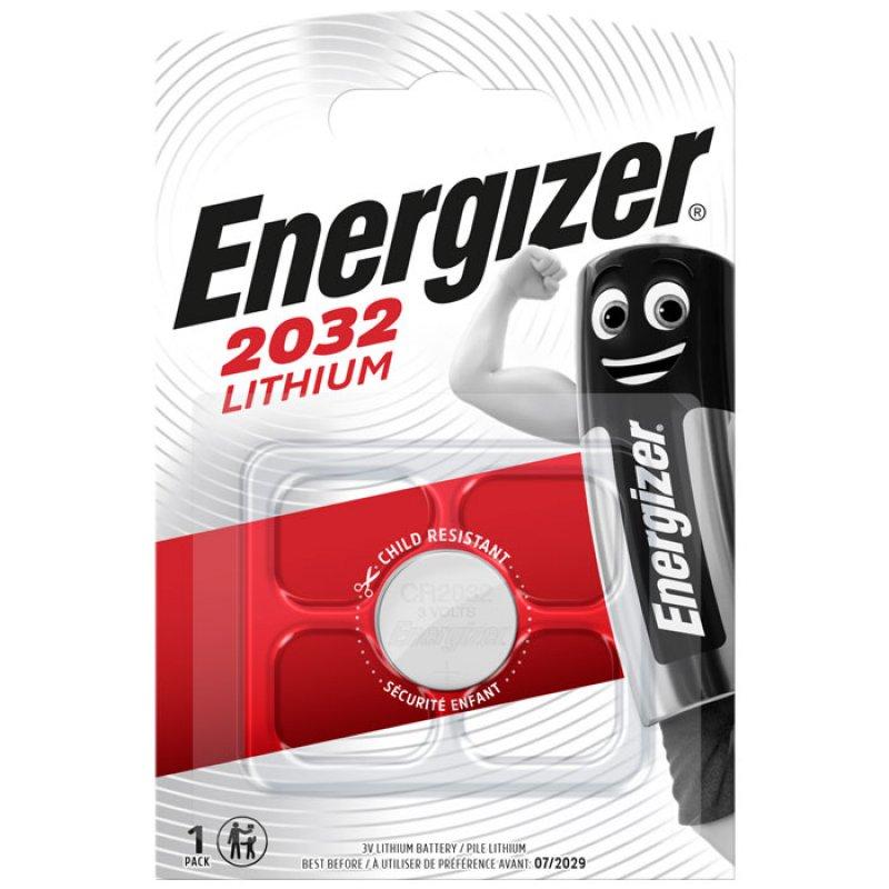 Μπαταρία λιθίου (κουμπί) Energizer CR2032 σε blister 1 μπαταρίας.