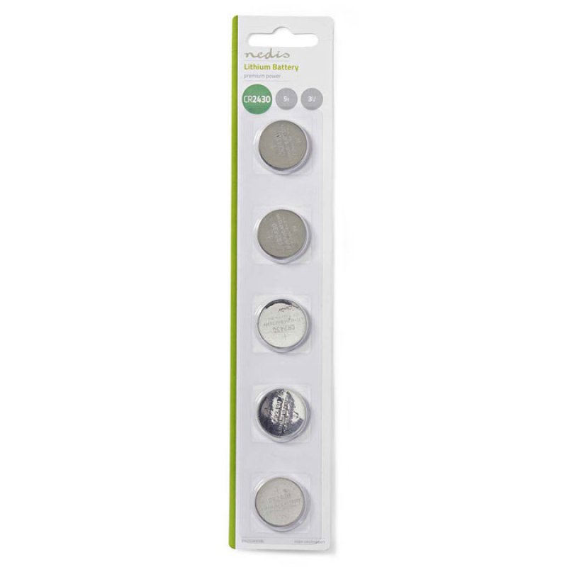 Μπαταρία λιθίου (κουμπί) CR2430 3V σε blister 5 μπαταριών.