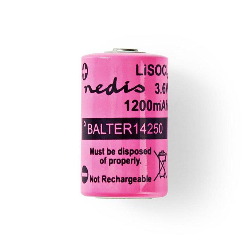 Μπαταρία Lithium Thionyl Chloride 1/2 AA 3,6V 1200 mAh.