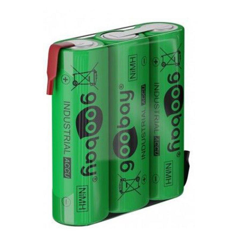 Επαναφορτιζόμενη μπαταρία 3.6V 2100mAh AA (Mignon) Ni-MH με λαμάκια.
