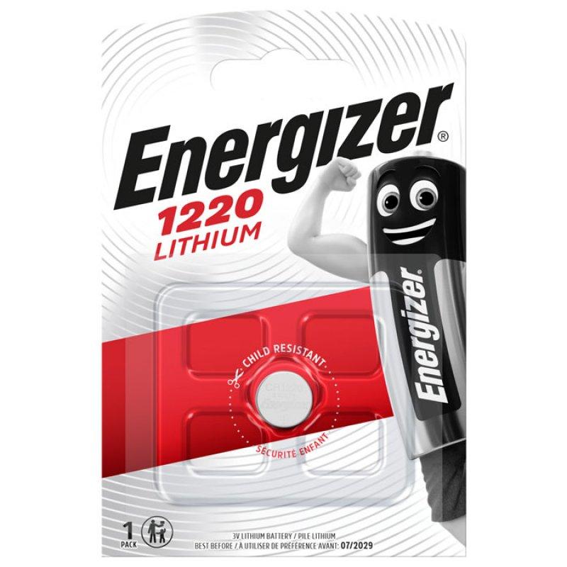 Μπαταρία λιθίου Energizer CR1220 3V σε blister 1 μπαταρίας.