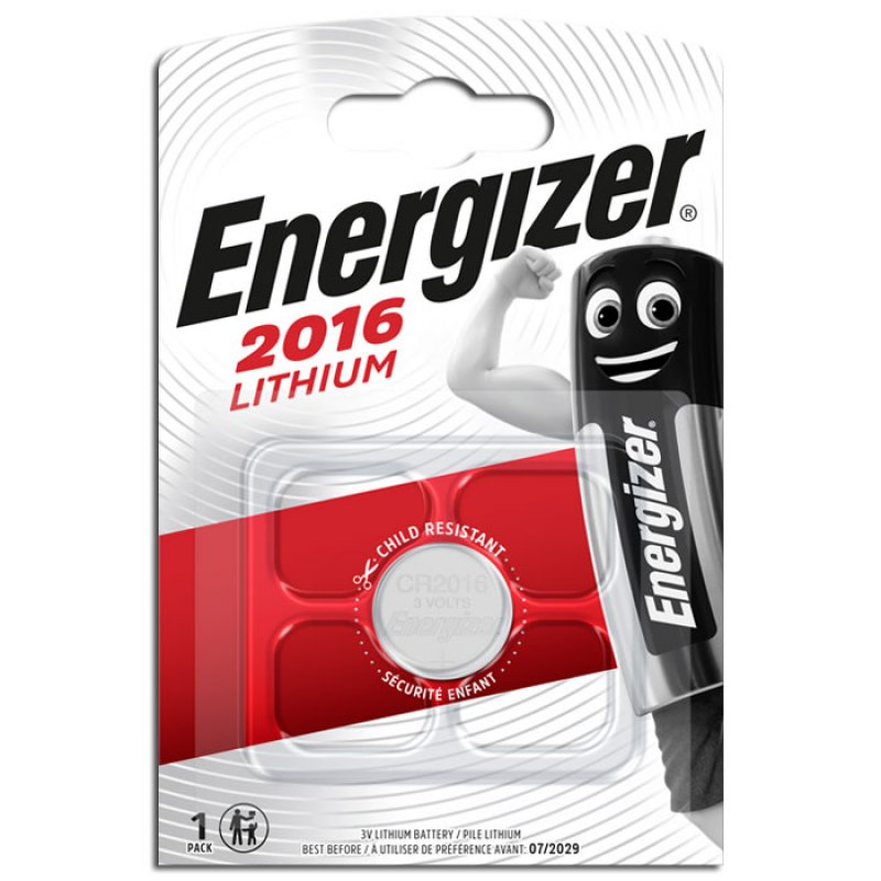 Μπαταρία λιθίου (κουμπί) Energizer CR2016 σε blister 1 μπαταρίας.