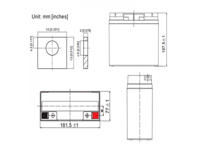 Μπαταρία μολύβδου 12V-18AH