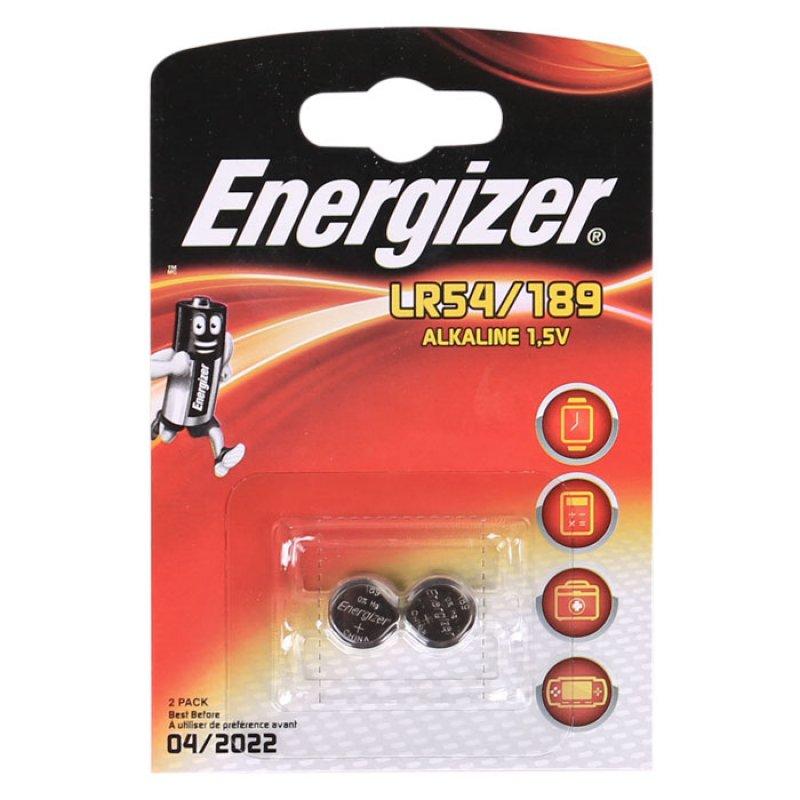Αλκαλικές μπαταρίες Energizer LR54/189 σε blsiter 2 μπαταριών