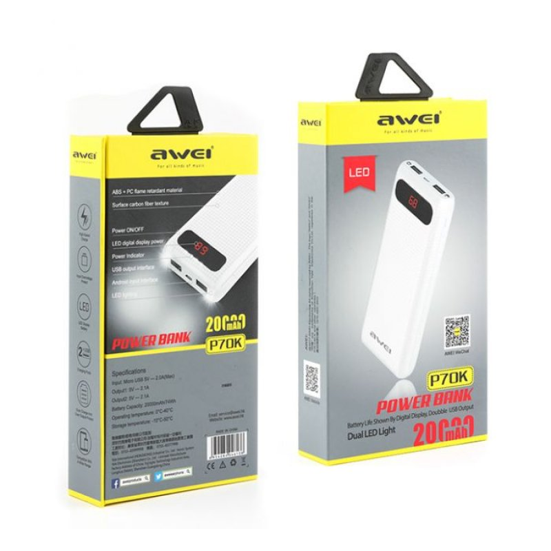 Awei p51k power bank 1000mah