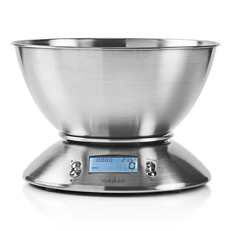2 σε 1: Ανοξείδωτη, Ψηφιακή Ζυγαριά Κουζίνας Και Χρονόμετρο Κουζίνας.