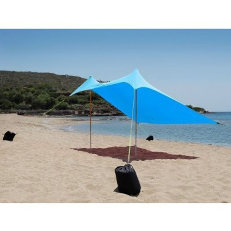 Ελαστική Τέντα Παραλίας Salty Tribe Aeolians 2x2m Γαλάζιο