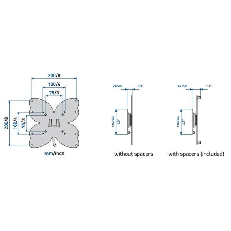 "Meliconi Επιτοίχια βάση στήριξης για τηλεοράσεις LED από 26"" έως 40"