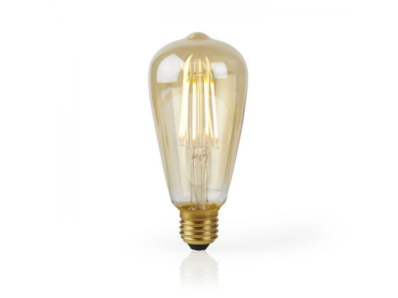 Wi-Fi έξυπνη λάμπα Filament LED, E27, ST64, 5W, 500lm