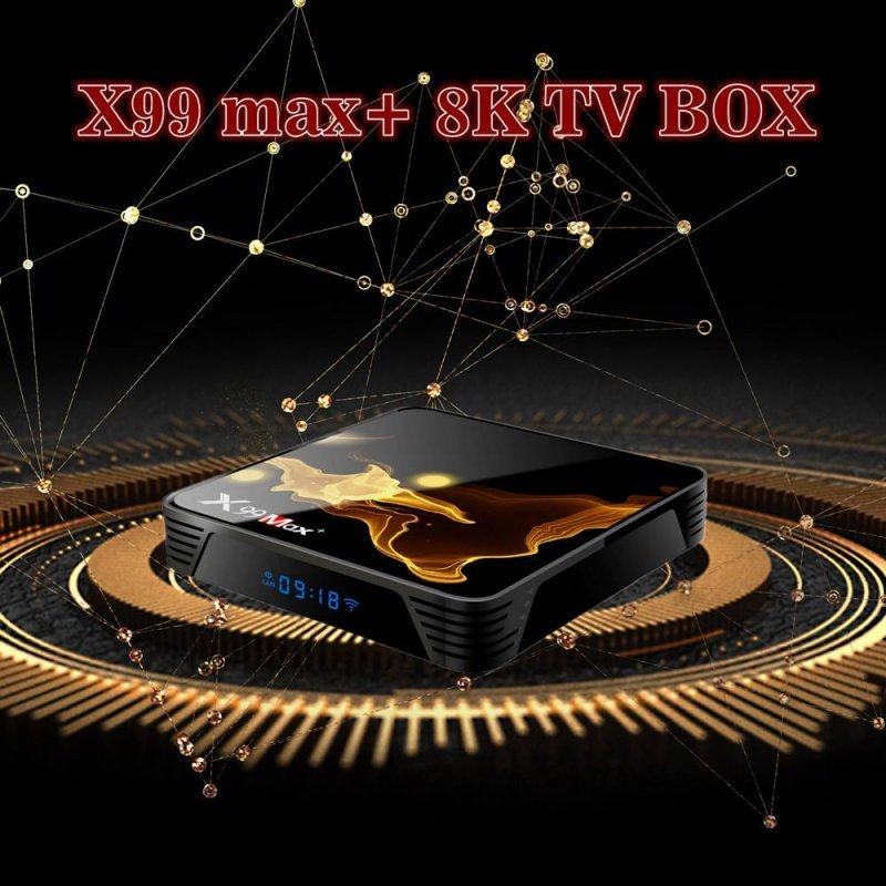 Tv Box X99 MAX Plus Android 9.0 Netflix Bluetooth 4GB Ram 32 Rom 2,4 GHz-5GHz