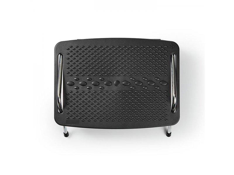 Yποπόδιο γραφείου με μεταλλικό σκελετό, σε μαύρο χρώμα,NEDIS ERGOFR200BK